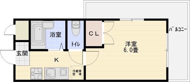 河内国分駅 1Kマンション