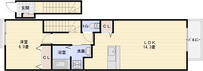 JR柏原駅 1LDK