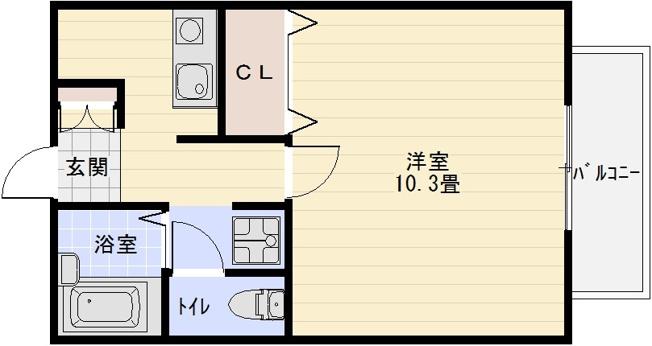ソレアード(河内国分駅) 1K