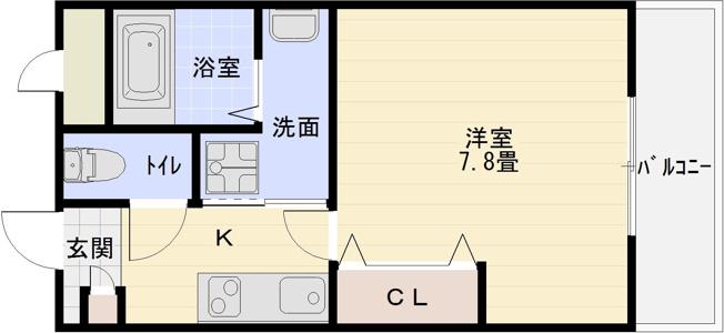河内国分駅 1K