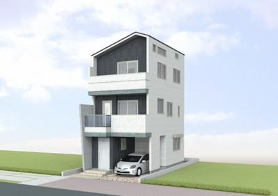 【外観】大和町新築戸建て(売買物件)