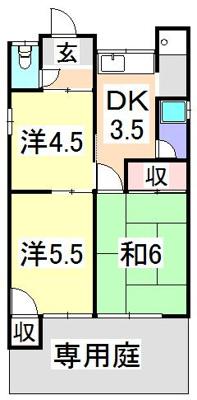 【外観】山戸2戸1平屋