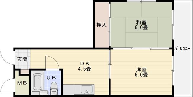 ビューハイム西村(河内国分駅) 2DK 国分本町 柏原市
