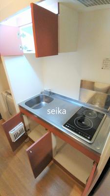 キッチンはフラットタイプのコンロなので、お料理やお掃除もラクラクです。