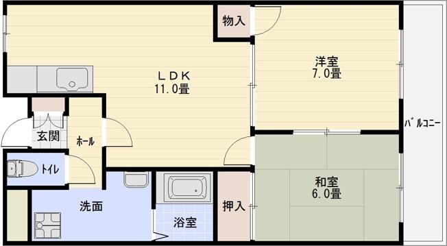 サンハイツ旭ヶ丘(河内国分駅)