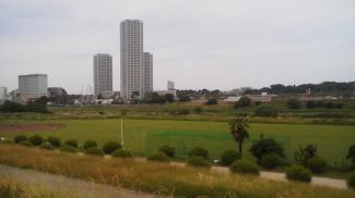 物件から30m 多摩川 遊歩道からの眺望