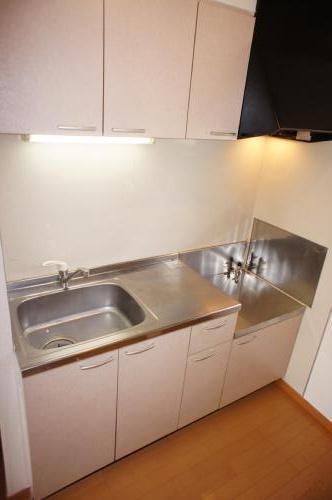 二口ガスコンロ設置可のきれいなキッチンです