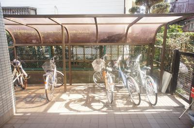 自転車置き場はこちらです