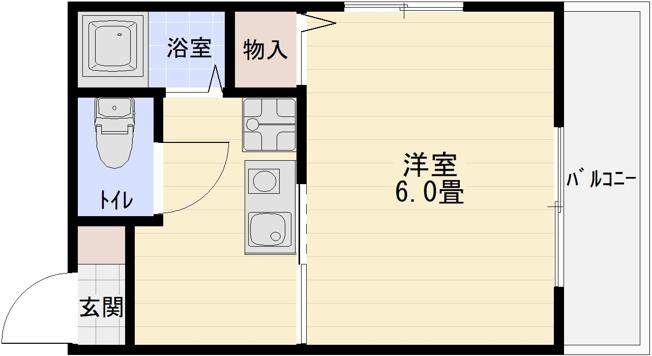 ビスタハイツ西村(柏原市 河内国分駅) 1K