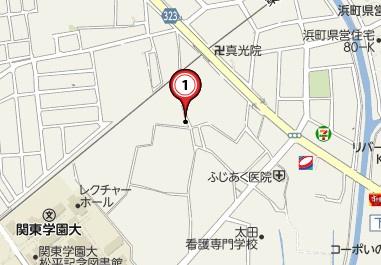 【地図】藤阿久町 古家付き更地
