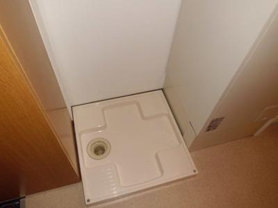 洗濯機置き場です