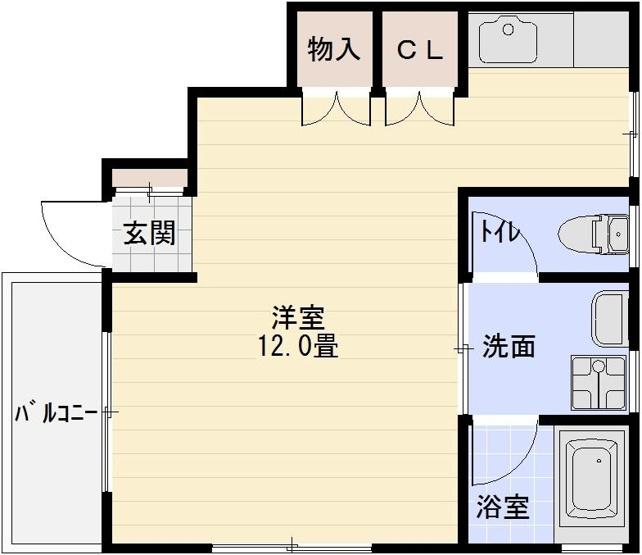 清州岡本ワンルーム 柏原駅 駅前 堅下駅 独立キッチン