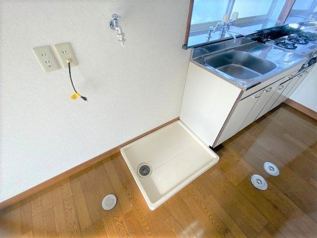 洗濯機置場、防水パン付き☆