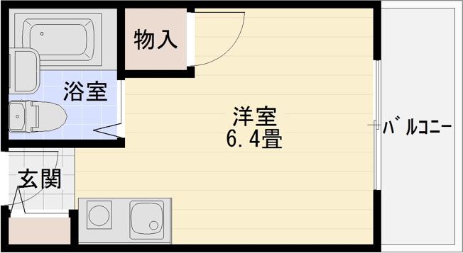メゾン高井田(柏原市ワンルーム)