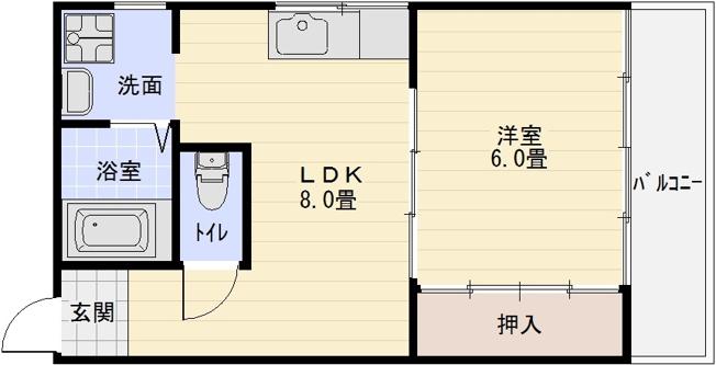 居村マンション 1LDK