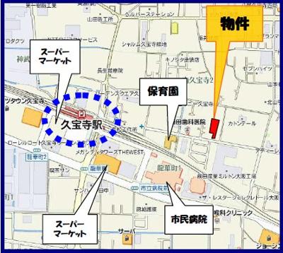 【地図】ルネス久宝寺