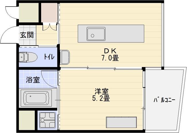 デザイナーズWANARI(わなり) 1DK