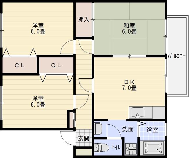 サンライフアオキ3 法善寺駅 志紀駅 柏原駅 3DK