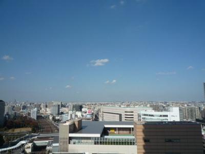 19階からの眺望 川口駅が下に見えます