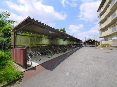 駐輪台数に余裕がある自転車置き場です