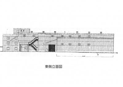 【外観パース】和泉市伏屋倉庫