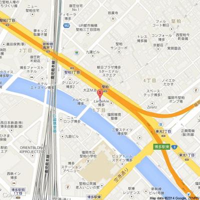 ステイツ博多駅Ⅱ(1DK)地図