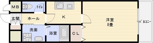 柏原市 1K マンション 河内国分駅