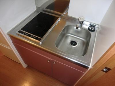 【キッチン】レオパレス水堂