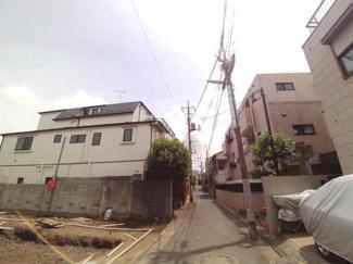 大田区上池台2丁目新築一戸建て6380万円前面道路