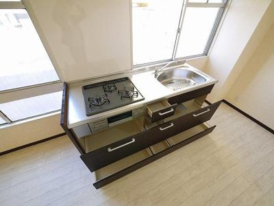 【キッチン】マンションキタⅡ