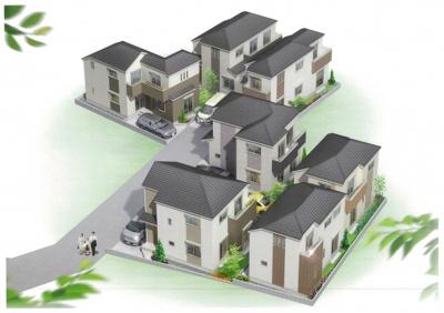 高台に位置する、住環境や交通アクセス、買物便利な新築分譲住宅全7棟です!
