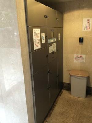 ステージファースト恵比寿東の宅配BOXです。