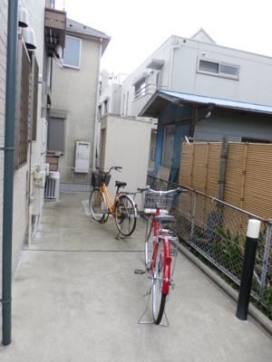 アムール Machidaの自転車置き場