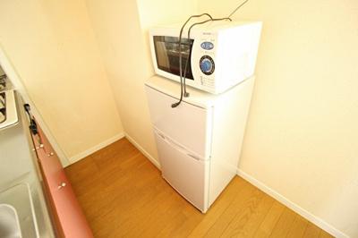 冷蔵庫・電子レンジ付き!