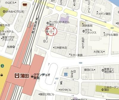 【地図】洋明ビル