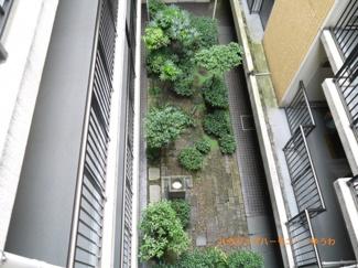 上から覗く中庭。春夏秋冬、風情を楽しむことが出来そうです。