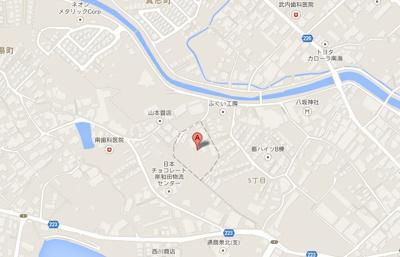 【地図】箕形5丁目倉庫