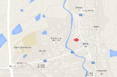 【地図】春木町(MS)倉庫