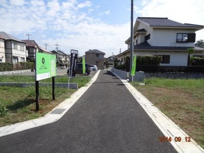 【前面道路含む現地写真】さいたま市緑区三室/売地全3区画
