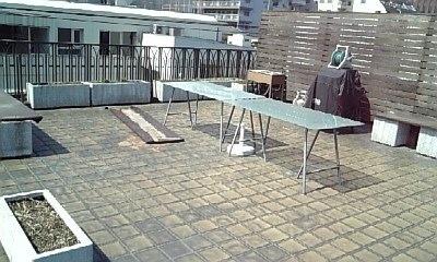 屋上バーベキュースペース