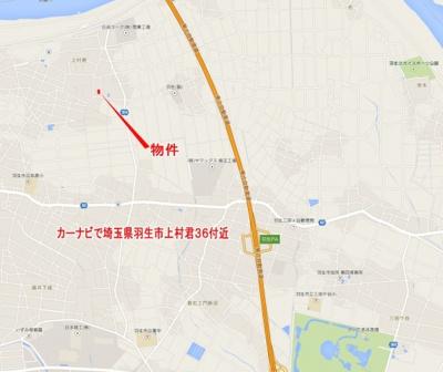 【地図】羽生市上村君/新築分譲住宅全5棟
