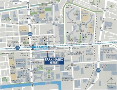 【地図】パークハビオ東陽町