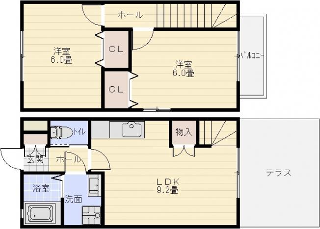 ブエナアビテート2(八尾市太田) 2LDK