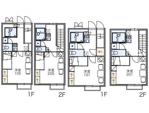号室によってお部屋のタイプが異なります。
