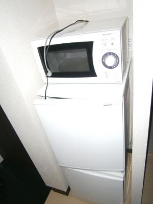 冷蔵庫・電子レンジが付きます