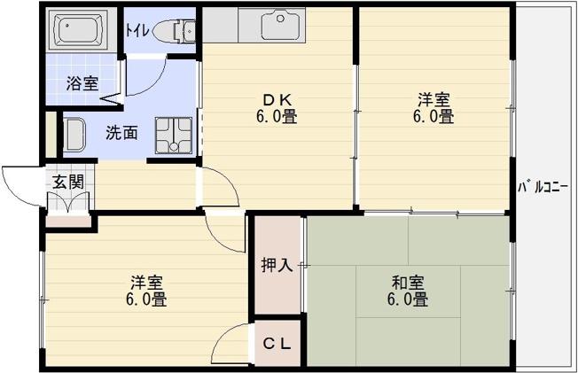八尾市栄町 3DK ペット相談