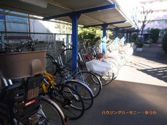 敷地内に、便利な屋根付き駐輪場有り。