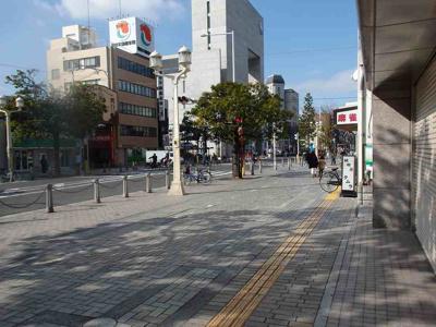 前の道は舗装された歩道です