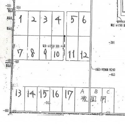 【区画図】細野第2駐車場