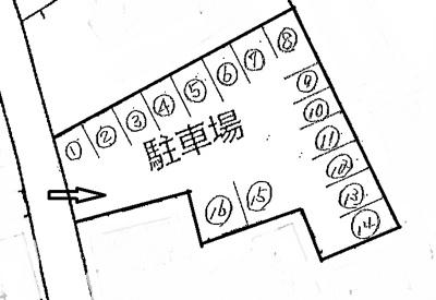 【区画図】横溝第1駐車場